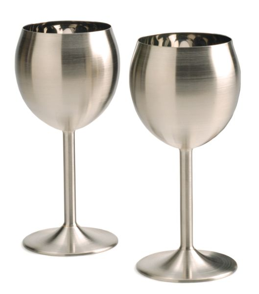 Stainless Wine Glasses