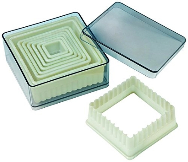 9pc Square Fluted Cutter Set