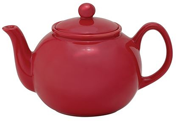 32oz Red Teapot W/Infuser