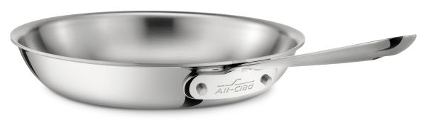 "10"" D3 Stainless Fry Pan 2qt"