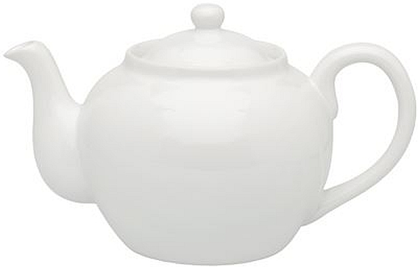 32oz White Teapot W/Infuser