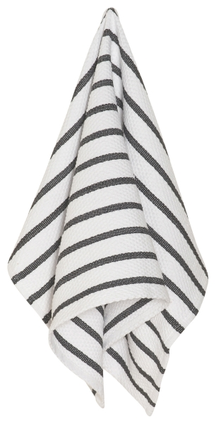 Basketweave Teatowel Black
