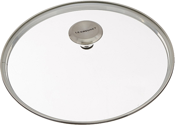 "11"" Glass Lid W/Stainless Knob"