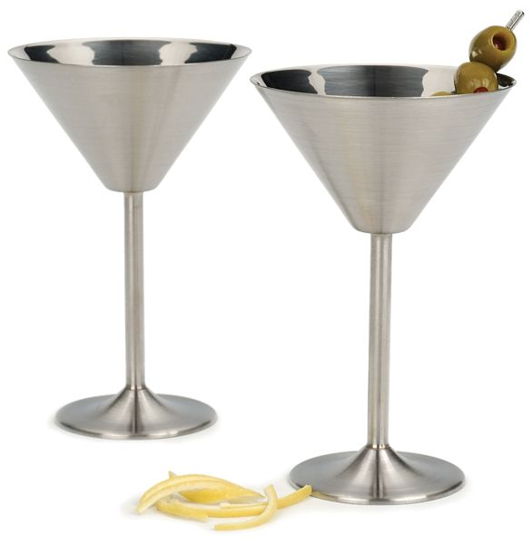 Stainless Martini Glasses